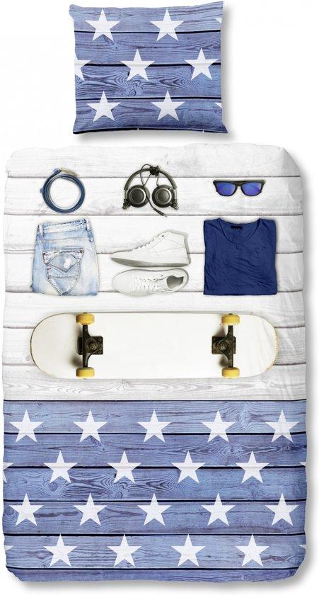 Good Morning 5467-P Boys Room - kinderdekbedovertrek - eenpersoons - 140x200/220 cm - katoen - blauw
