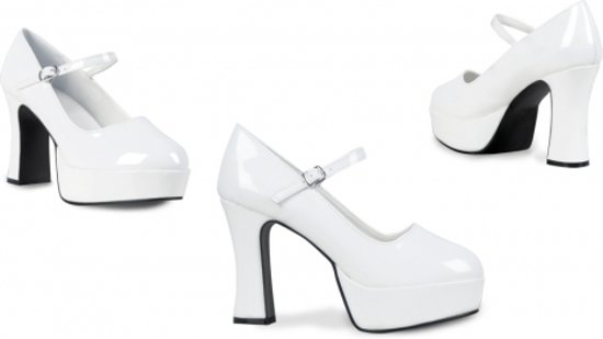 Chaussures Disco Pour Femmes Blanc Talon Haut 6RkYQvSFpq