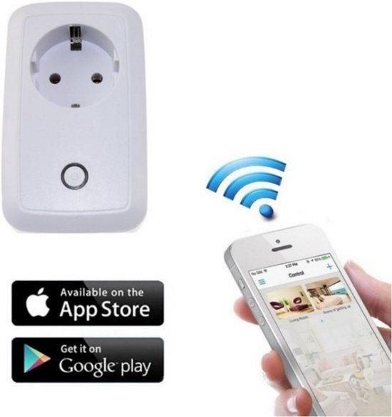 Smart WIFI plug-in Android / iOS stopcontact schakelaar met USB poort