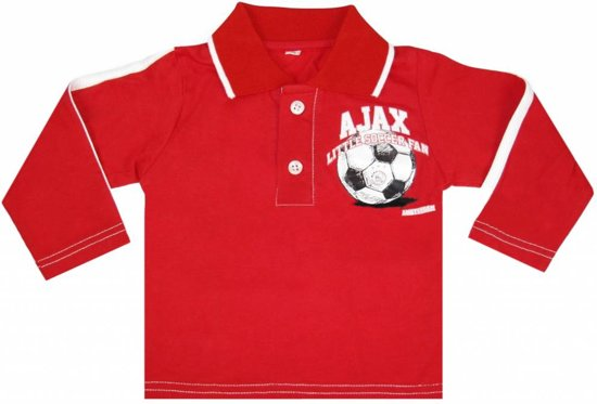 Baby polo ajax longsleeves rood little soccer fan maat 74/80