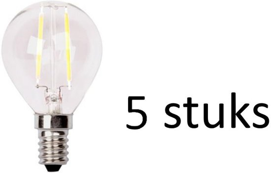 LED lamp 2W E14 Kogel   XQ1405 set van 5 stuks