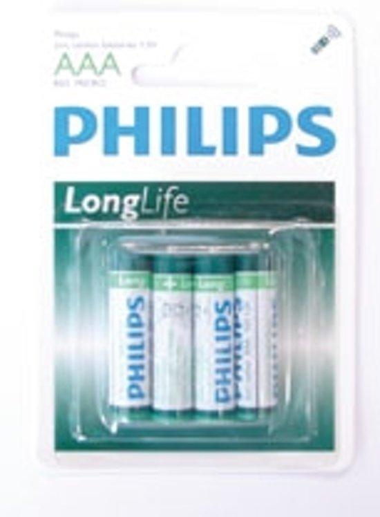 Philips Batterij Longlife R03 12x4s AAA