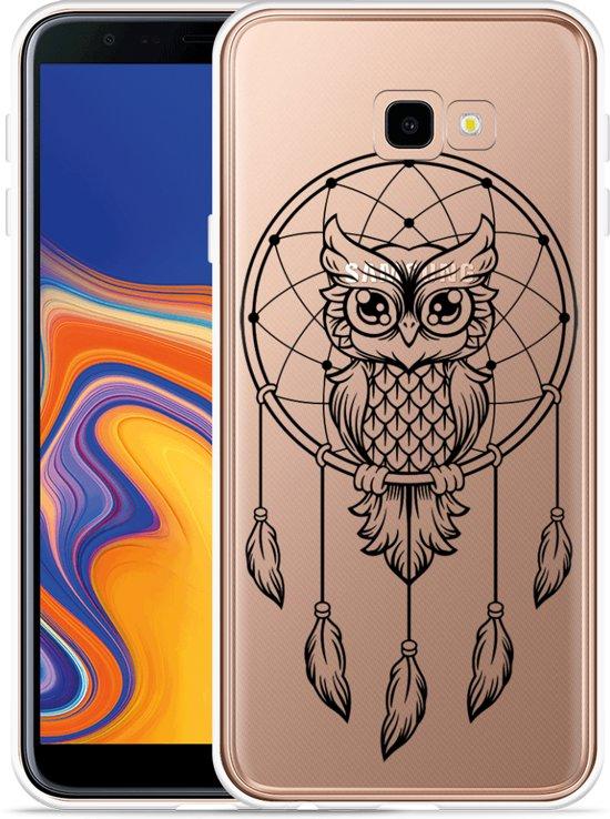 Galaxy J4 Plus Hoesje Dream Owl Mandala Black