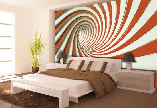 Bol fotobehang design slaapkamer oranje cm