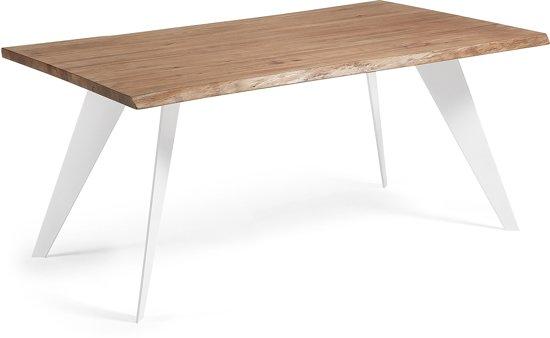 Bol.com eettafel nack hout staal 78x180x100