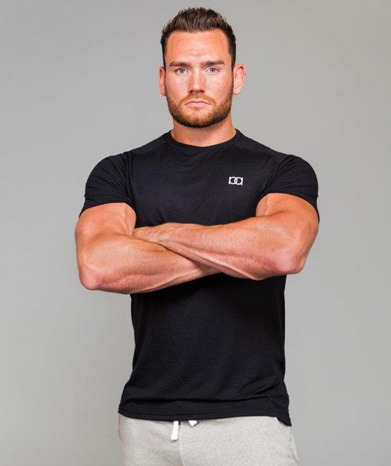 2f62fb8432e bol.com | Marrald Performance Sportshirt | Zwart - L heren fitness ...