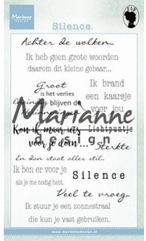 Marianne Design Stempel Silence (Nederlands) EWS2224