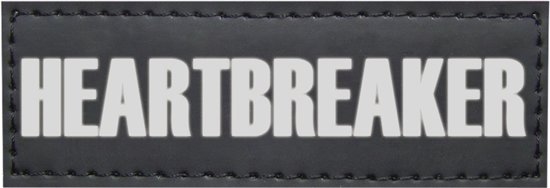 Nobby Seguro Sticker Heartbreaker - Hond - 3 x 9 cm - 2 stuks