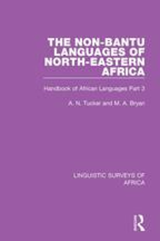 The Non-Bantu Languages of North-Eastern Africa