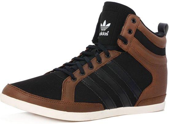 Adidas - Heren - Hoge sneakers - Maat 42 - Zwart / Bruin