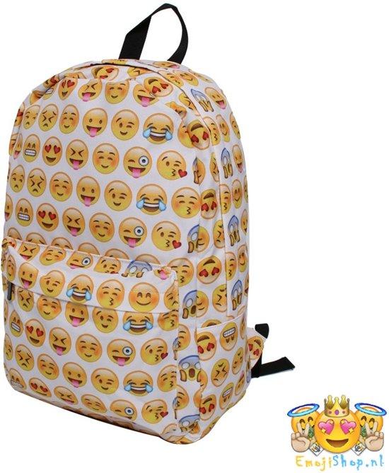 e27847efdd3 bol.com | Witte Emoji Rugtas - 20 Liter - Hippe Rugzak voor de ...