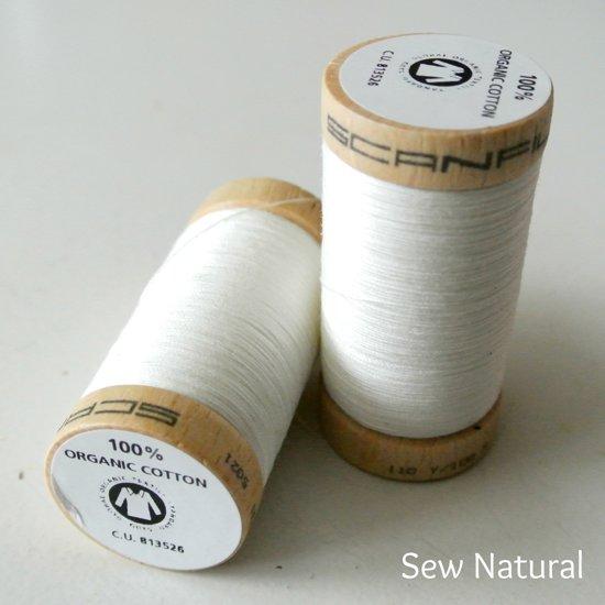 Biologisch katoen naaigaren  -offwhite - 100 m