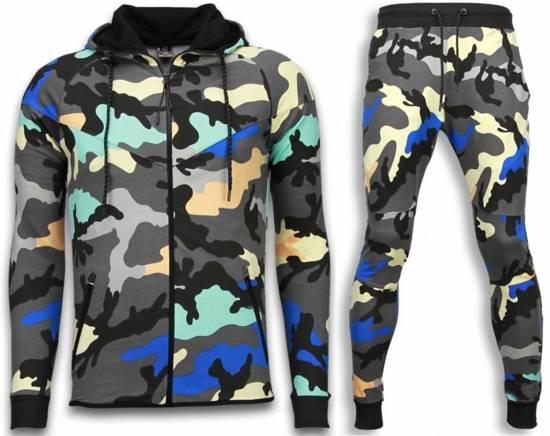 JMPR Exclusive Camo Trainingspakken - Camouflage Joggingpak - Antra - Maat: XXL