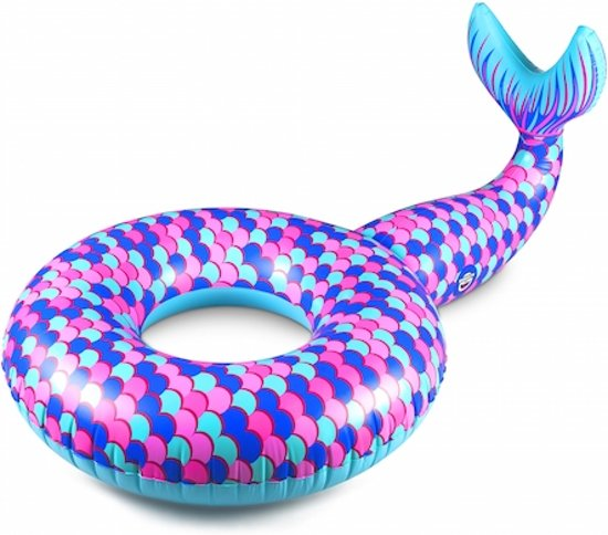 Zeemeermin Staart Pool Float - Pool Float Mermaid – Big Mouth grote opblaas zwemband – 150 cm.