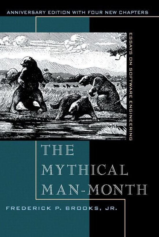 Boek cover The Mythical Man-month van Frederick P. Brooks (Paperback)
