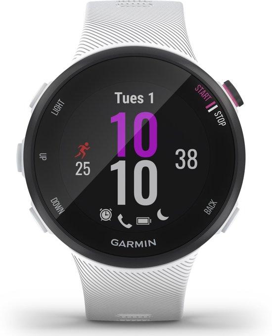 Garmin Forerunner 45S - GPS Hardloophorloge met hartslagsensor - Small - Zwart/Wit