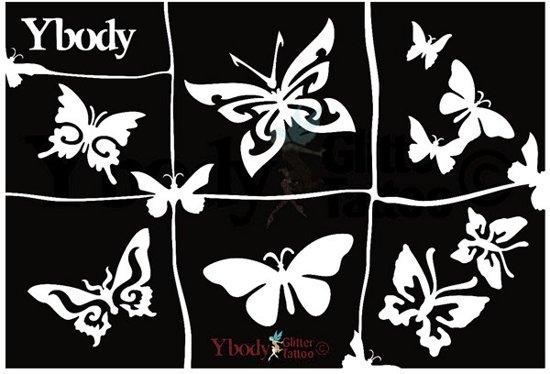 Stencil Butterflies Y body