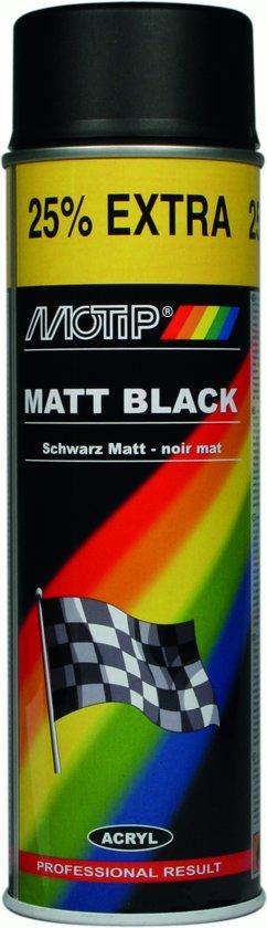 Motip Lak - Mat Zwart - 500 ml