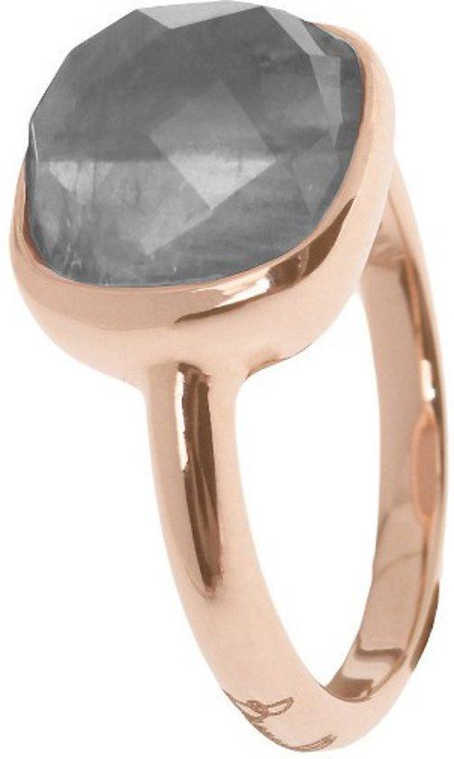 Bronzallure Ring Rose Goud Met Grijs Kwarts WSBZ00094GR (Maat 12)