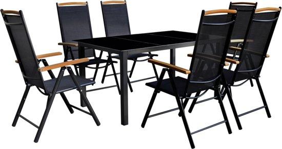 Bol aluminium tuinset tafel stoelen