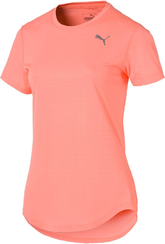 PUMA Ignite Graphic S/S Tee Sportshirt Dames - Bright Peach