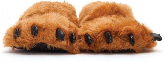 b731673aab5 bol.com   Dierenpoot pantoffels/sloffen beer voor volwassenen bruin ...