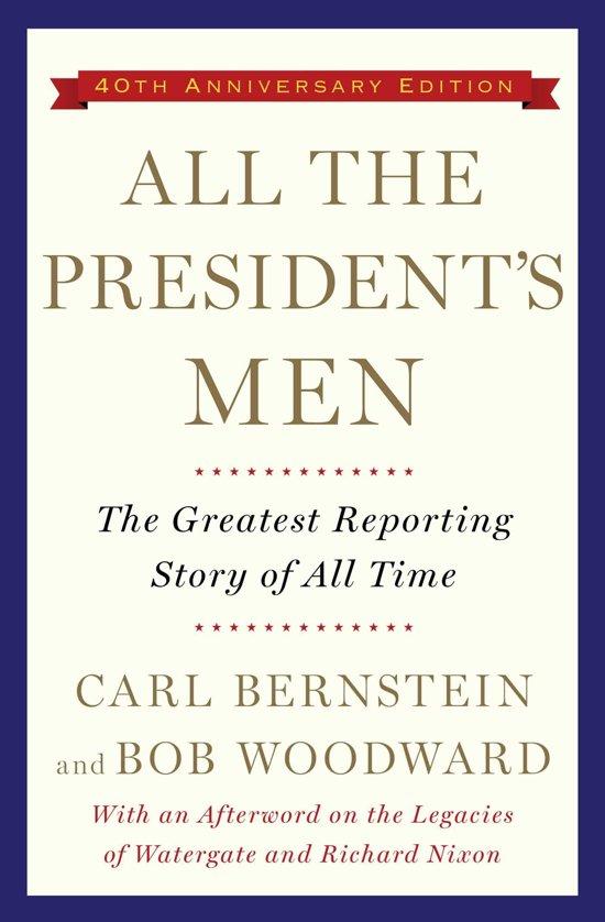 Boek cover All the Presidents Men van Bob Woodward (Onbekend)