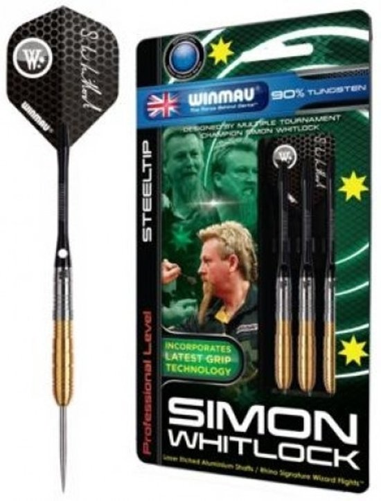 Winmau dartpijlen Simon Whitlock Darts - Gold 24 gram