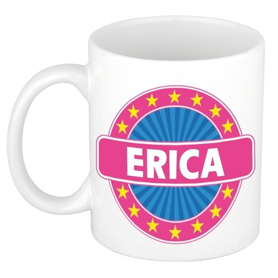 Erica naam koffie mok / beker 300 ml  - namen mokken
