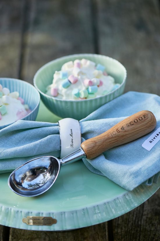 Riviera Maison Cold As Ice Ice Cream Scoop - IJsschep - Zink/Hout