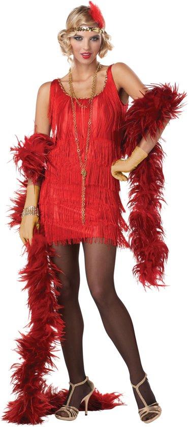 Rood Charleston kostuum voor vrouwen  - Verkleedkleding - Large