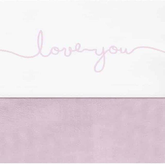 Jollein Love you Laken 120x150cm wit met roze letters