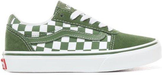 c99fbdea766 bol.com | Vans YT Ward groen wit geblokt sneakers kids