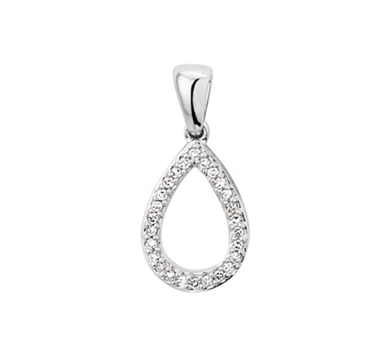 The Jewelry Collection Hanger Diamant 0.05ct H Si - Witgoud