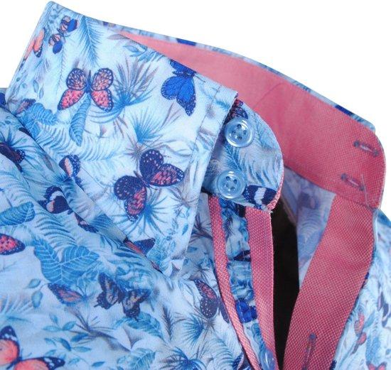 Turquoise Montazinni Overhemd Heren Stretch Vlinders wqpIgx