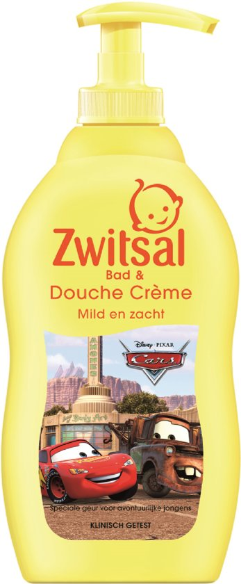 Zwitsal Jongens Douchecrème Disney Cars - 400 ml - Kids