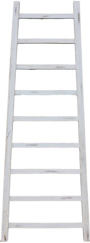 Decoratieve ladder Tangga 150 White 35/55*4*150