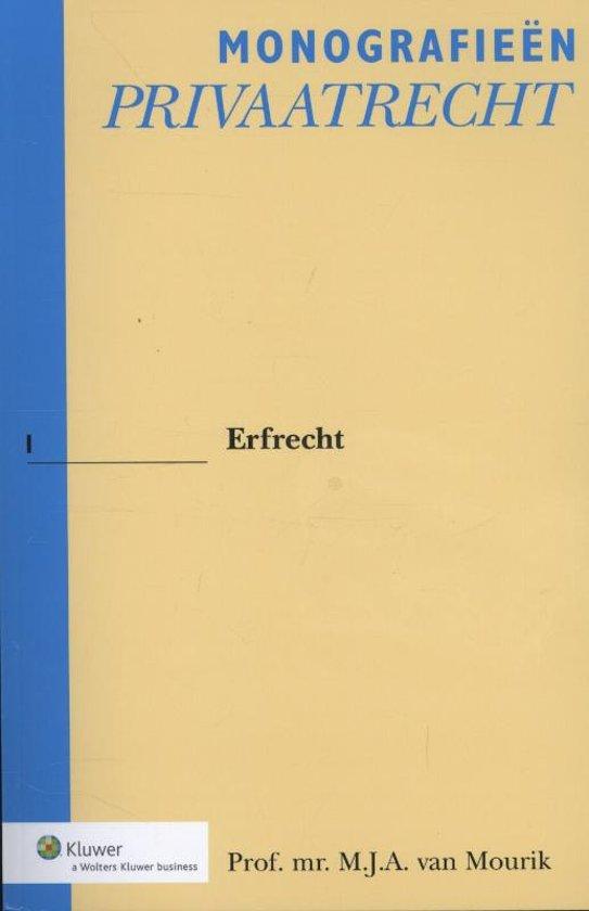 Boek cover Erfrecht van M.J.A. van Mourik (Paperback)