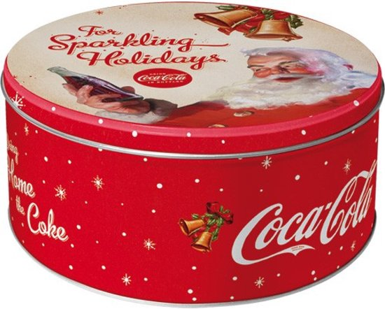 Coca Cola-For Sparkling Holidays Opbergbox, Blik Amerika USA, metaal Valentinaa
