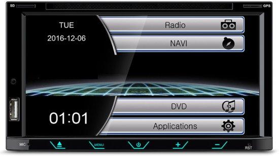 Bluetooth autoradio navigatie systeem KIA CEE'D 2012+ (Left wheel / Black) inclusief inbouwpaneel Audiovolt 11-421 in Mortier