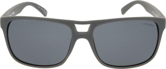 61112c2096880e ICON Sport Zonnebril TEMPO -Mat grijs montuur - Grijs spiegelende glazen -  GEPOLARISEERD (p