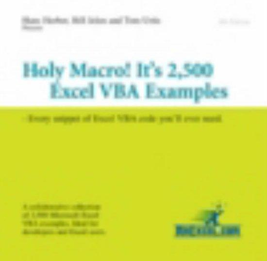 Bol Holy Macro Its 2 500 Excel Vba Examples Hans Herber