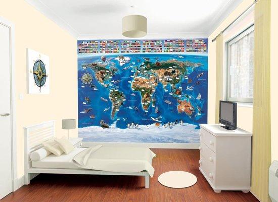 Walltastic - Wereldkaart - Posterbehang