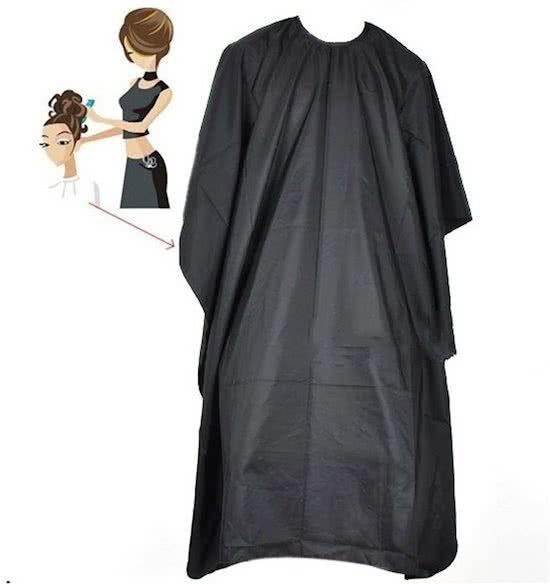 Black Salon Kapmantel - Waterproof Kappersmantel