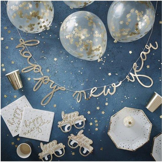 Nieuwjaar party box goud (8-16 personen) Valentinaa