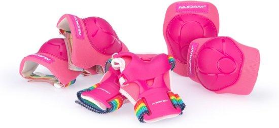 Nijdam Junior Beschermerset Junior - Rainbow - Roze/Fuchsia/Wit - S