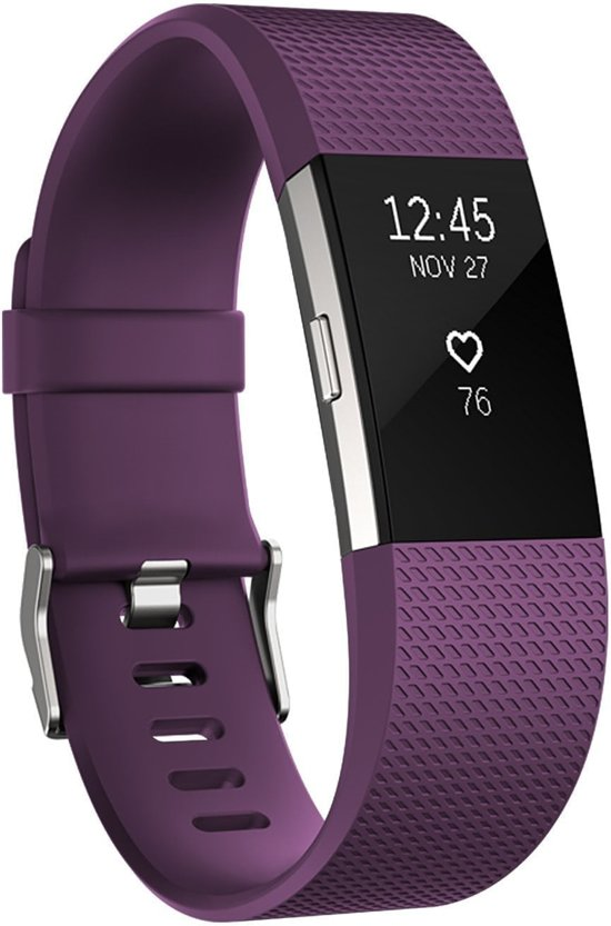 watchbands shop.nl Siliconen bandje Fitbit Charge 2 Paars Small
