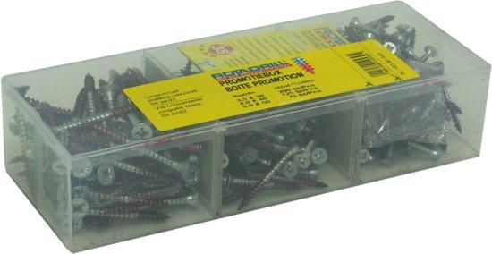 Rotadrill Assortimentbox - 400 delig - 3,5 x 30 (200 stuks), 4,0 x 40 (125 stuks), 5,0 x 50 (75 stuks)