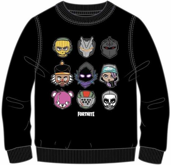 Fortnite sweater - zwart - maat 176 cm / 16 jaar