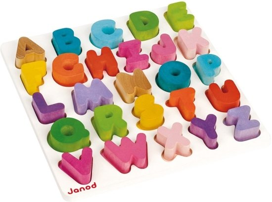 Janod I Wood ABC Puzzel